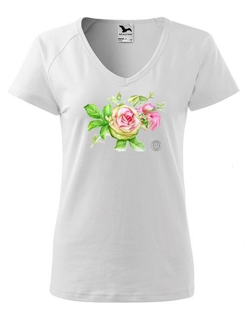 koszulka róże