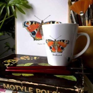 kubek z motywem motyla Rusałka pawik