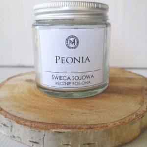 świeca sojowa peonia