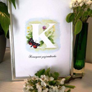 ilustracja z literą K