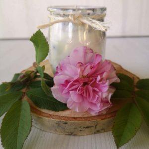 świeca sojowa róża